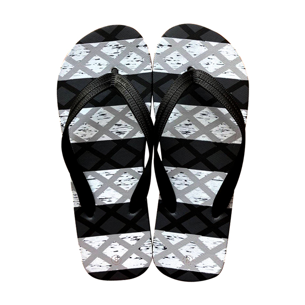 Grey & Black Men Printed Thongs
